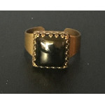 Medieval Ring - 10mm Onyx and Brass