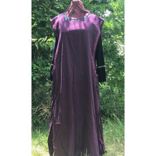 Linen Surcoat - 3X Plum Purple