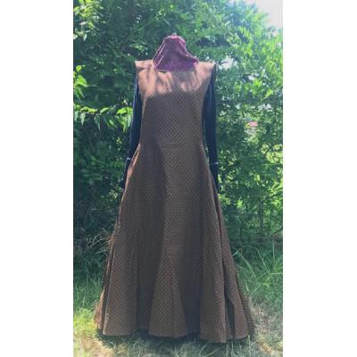 Surcoat L Brown Brocade