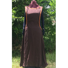 Linen Surcoat - M Dark Brown