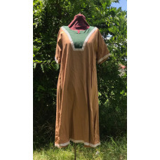Women's AS Overtunic - 3X Mocha/Emerald